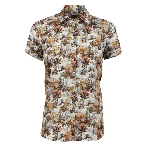 Djungle Patterned Short Sleeved Shirt