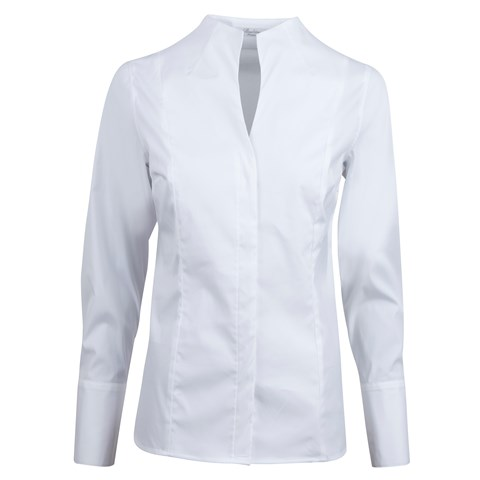 White High Collar Blouse