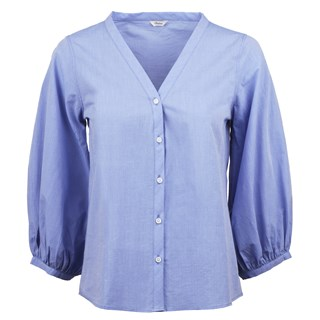 Anna Blue Striped Blouse