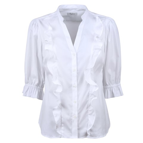 Agnes Blouse White, Stretch