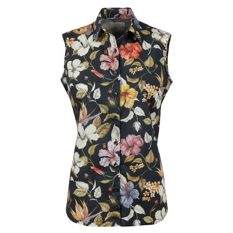 Sofie Sleeveless Shirt Black Floral