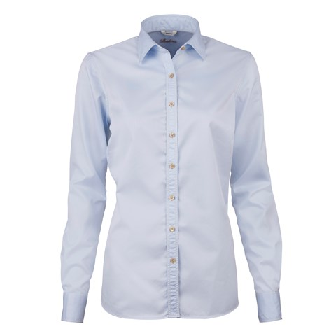 Light Blue Casual Feminine Shirt In Superior Twill