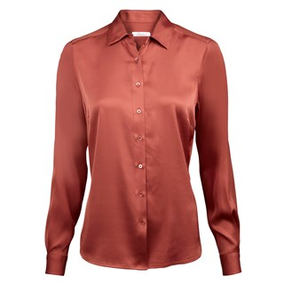 Peach Feminine Silk Shirt