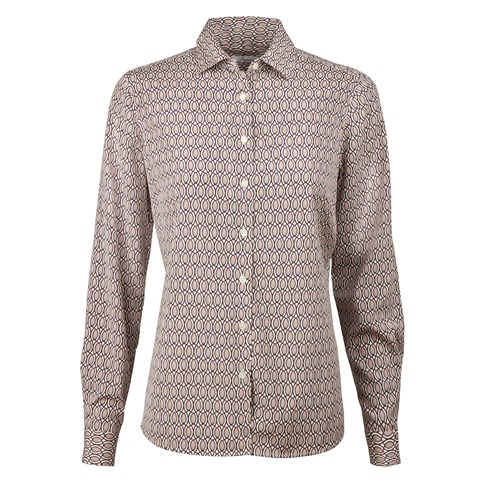 Patterned Feminine Silk Shirt