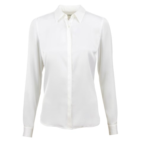 Susan Silk Shirt, Stretch Off-White