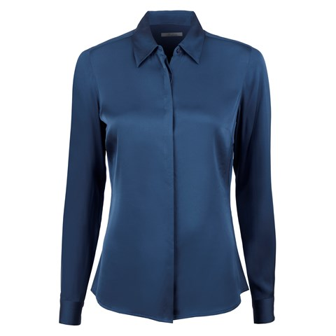 Blue Silk Shirt