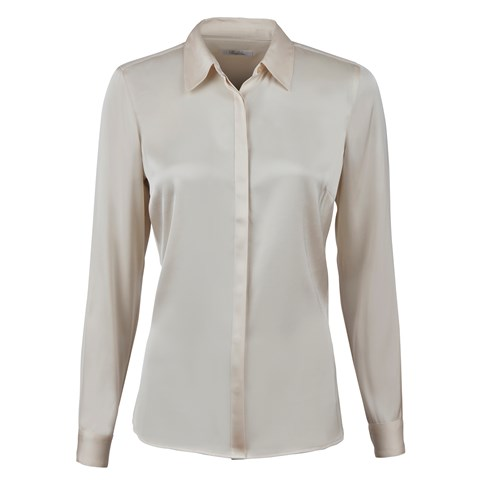 Light Beige Silk Shirt