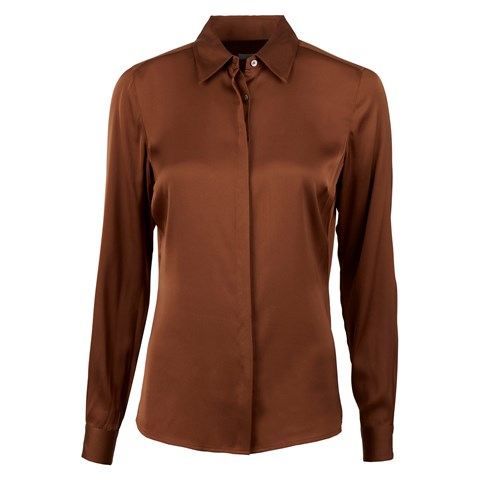 Brown Silk Shirt