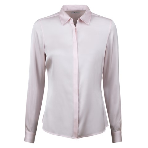 Susan Silk Shirt, Stretch Light Pink