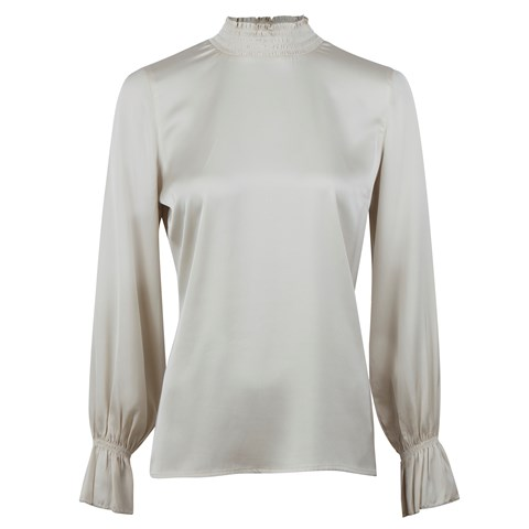 Off-White Silk Blouse