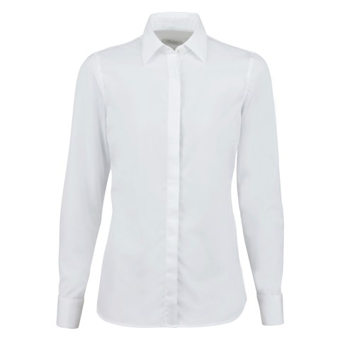 White Feminine Shirt With Double Cuffs
