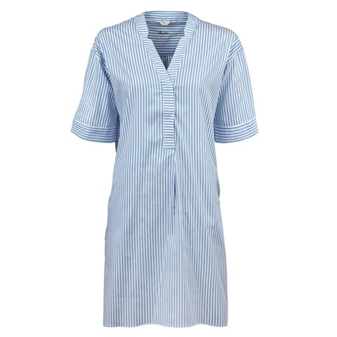 Light Blue Striped Feminine Tunic
