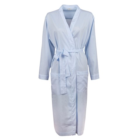 Light Blue Oxford Night Robe