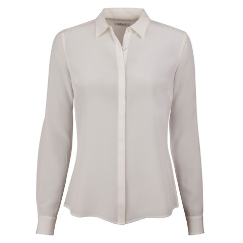 Crème Feminine Silk Shirt, Stretch