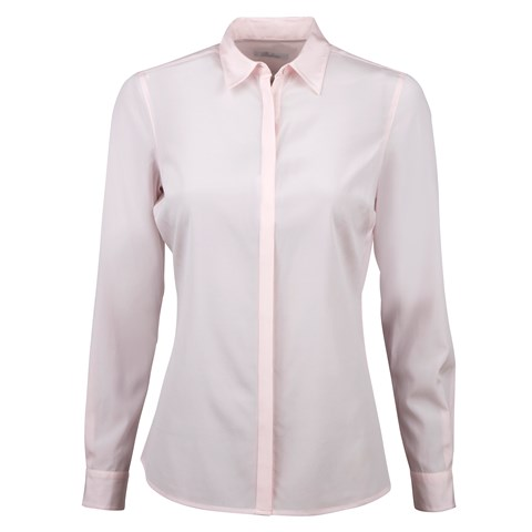 Light Pink Feminine Silk Shirt