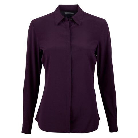 Purple Feminine Silk Shirt