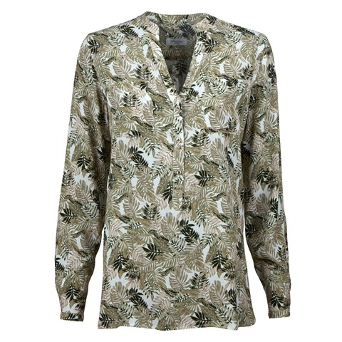 Pop-Over Blouse With Leafs