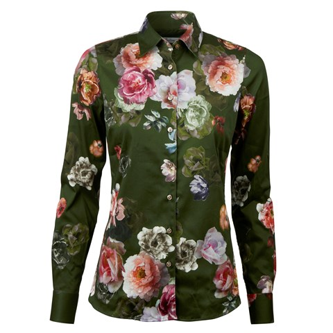 Romantic Floral Slimline Shirt