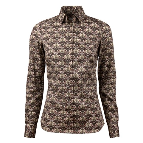Graphic Butterfly Patterned Slimline Shirt