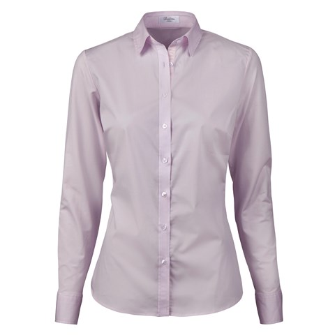 Light Pink Slimline Shirt With Jersey Back