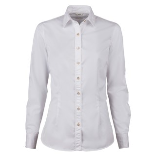 White Casual Slimline Shirt In Superior Twill