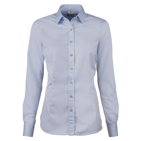 Casual Light Blue Slimline Shirt In Superior Twill