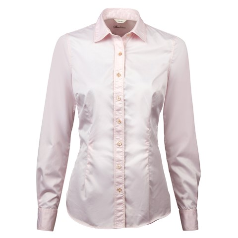 Casual Light Pink Slimline Shirt In Superior Twill