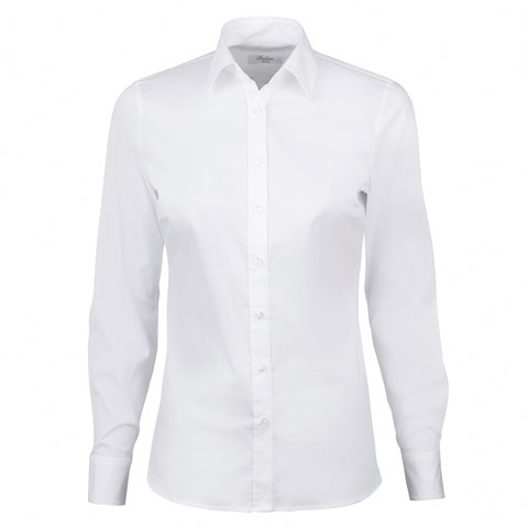 White Shirt In Cotton Stretch