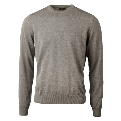 Mud Brown Merino Crew Neck