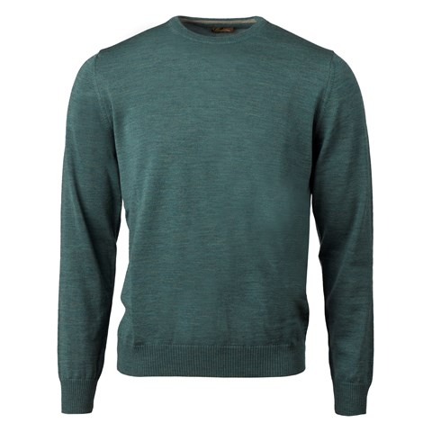Green Merino Crew Neck