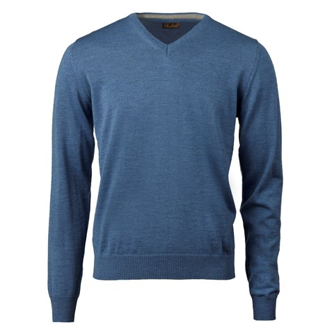 Blue Merino V-Neck