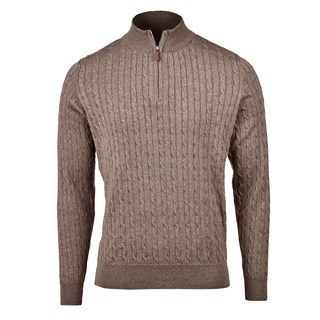 Mud Brown Cable Half Zip