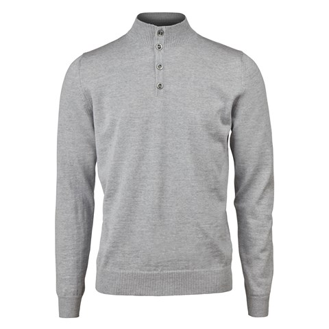 Light Grey Merino Mock Neck