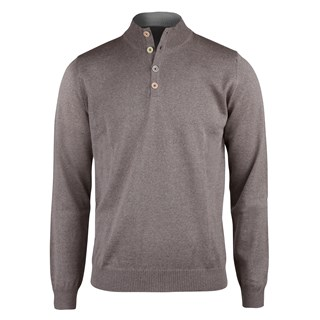 Mud Brown Merino Mock Neck