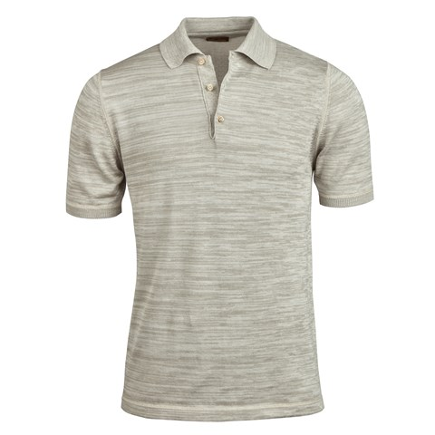 Light Grey Mouliné Polo Shirt