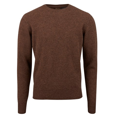 Brown Yak Merino Crew Neck
