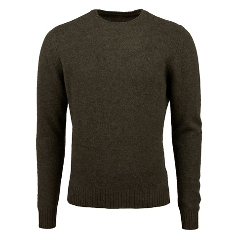 Forest Green Yak Merino Wool Crew Neck
