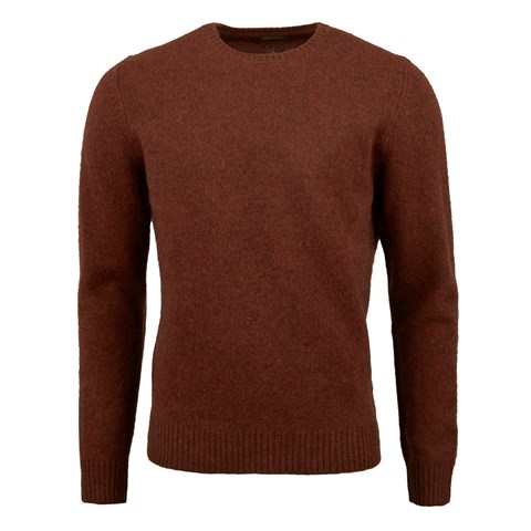 Rust Yak Merino Wool Crew Neck