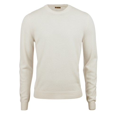 Off-white Cashmere Crew Neck