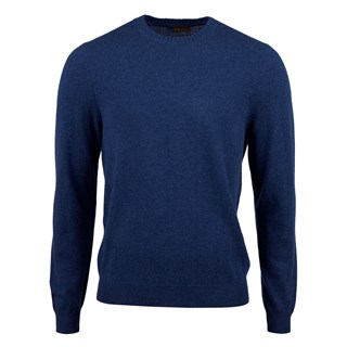 Blue Cashmere Crew Neck