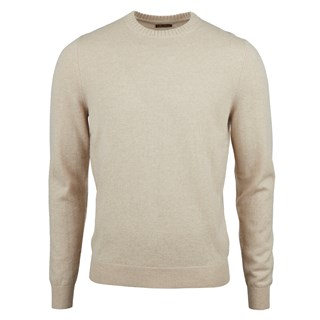 Light Beige Cashmere Crew Neck