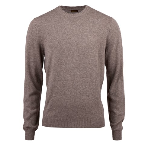 Mud Brown Cashmere Crew Neck
