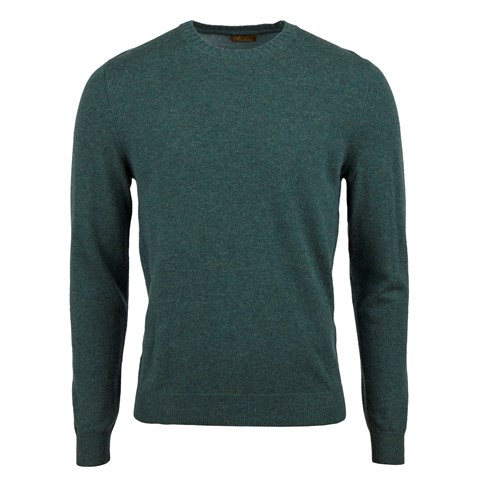 Green Cashmere Crew Neck