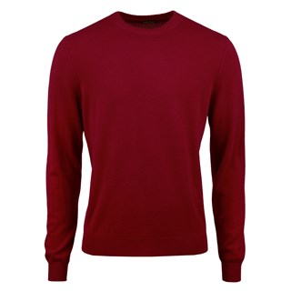 Red Cashmere Crew Neck