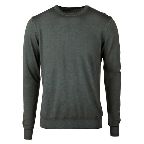 Garment Dyed Merino Crew Neck