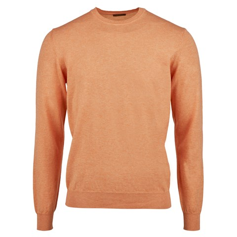 Orange Cotton Merino Crew Neck
