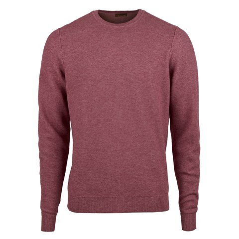 Magenta Honeycomb Cotton Merino Crew Neck