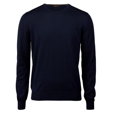 Navy Merino Crew Neck