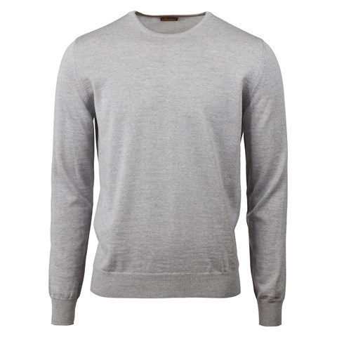 Grey Merino Crew Neck