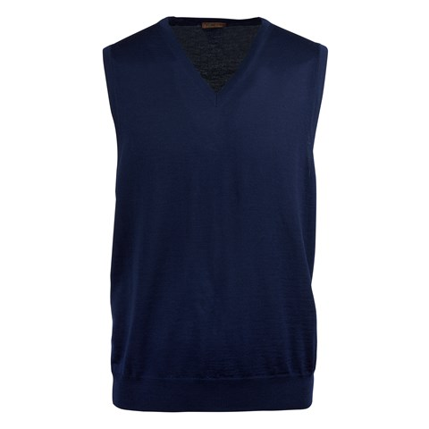 Navy Merino V-Neck Slipover